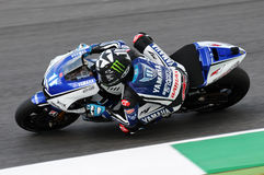 MUGELLO Circuit - JULY 13: Ben Spies Yamaha racing at Qualifying Session of MotoGP Grand Prix of Italy, on July 13, 2012 Stock Photos