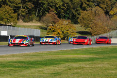 MUGELLO, IT, im November 2015: Unbekanntes laufen gelassen mit Ferrari 488 Turbo Stockfoto
