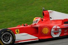 MUGELLO, IT, im November 2013: Unbekanntes laufen mit Ferrari F1 während Finali Mondiali Ferrari 2013 in den mugello Stromkreis Lizenzfreie Stockfotografie