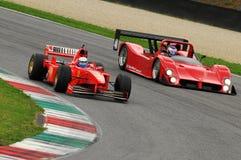 MUGELLO, IT, im November 2013: Unbekanntes laufen mit Ferrari F1 während Finali Mondiali Ferrari 2013 in den mugello Stromkreis i Stockfoto