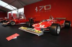 MUGELLO, IT, im Oktober 2017: Ferrari F1 312 T4 1979 von Gilles Villeneuve und von Jody Scheckter an der Koppel-Show von Ferrari- stockfoto