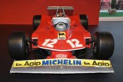 MUGELLO, IT, im Oktober 2017: Ferrari F1 312 T4 1979 von Gilles Villeneuve und von Jody Scheckter an der Koppel-Show von Ferrari- stockfotografie