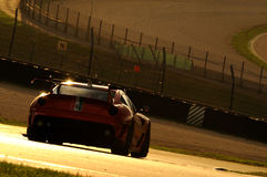 MUGELLO, ITÁLIA - EM NOVEMBRO DE 2013: O desconhecido conduz Ferrari 599XX durante XX programas de Finali Mondiali Ferrari - o di Fotografia de Stock