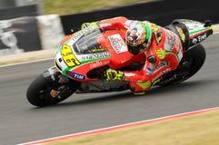 MUGELLO - ITÁLIA, O 13 DE JULHO: Cavaleiro Valentino Rossi de Ducati do italiano durante GP 2012 de TIM MotoGP de Itália o 13 de  Foto de Stock