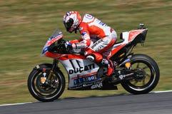 MUGELLO - ITÁLIA, O 3 DE JUNHO: Cavaleiro Andrea Dovizioso Win de Ducati do italiano o GP de 2017 OAKLEY MotoGP de Itália o 3 de  Fotografia de Stock