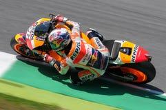 MUGELLO - ITÁLIA, O 29 DE MAIO: Cavaleiro Dani Pedrosa de Honda do espanhol em TIM 2015 MotoGP de Itália no circuito de Mugello Fotos de Stock