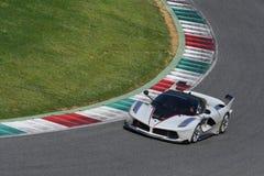 MUGELLO, ITALIË - April 12, 2017: Onbekende aandrijving Ferrari FXX K tijdens XX Programma's van Ferrari die Dagen in Mugello-Kri Royalty-vrije Stock Foto's