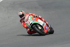 MUGELLO - ITALIË, 13 JULI: De ruiter Nicky Hayden van de V.S. Ducati bij 2012 TIM MotoGP van Italië bij Mugello-kring op 13 Juli, Stock Foto