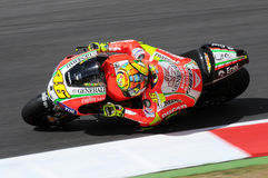 MUGELLO - ITALIË, 13 JULI: Italiaanse Ducati-ruiter Valentino Rossi tijdens 2012 TIM MotoGP GP van Italië op 13 Juli, 2012 Royalty-vrije Stock Foto