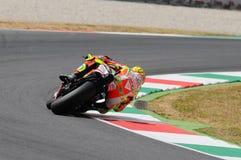 MUGELLO - ITALIË, 13 JULI: Italiaanse Ducati-ruiter Valentino Rossi tijdens 2012 TIM MotoGP GP van Italië op 13 Juli, 2012 Royalty-vrije Stock Afbeeldingen