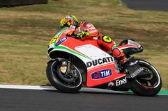 MUGELLO - ITALIË, 13 JULI: Italiaanse Ducati-ruiter Valentino Rossi tijdens 2012 TIM MotoGP GP van Italië op 13 Juli, 2012 Stock Afbeelding