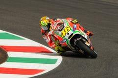 MUGELLO - ITALIË, 13 JULI: Italiaanse Ducati-ruiter Valentino Rossi tijdens 2012 TIM MotoGP GP van Italië op 13 Juli, 2012 Royalty-vrije Stock Afbeelding