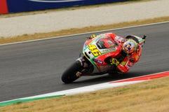 MUGELLO - ITALIË, 13 JULI: Italiaanse Ducati-ruiter Valentino Rossi tijdens 2012 TIM MotoGP GP van Italië op 13 Juli, 2012 Stock Foto's