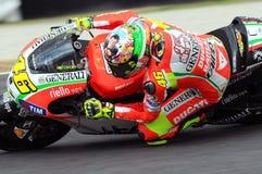 MUGELLO - ITALIË, 13 JULI: Italiaanse Ducati-ruiter Valentino Rossi tijdens 2012 TIM MotoGP GP van Italië op 13 Juli, 2012 Stock Foto