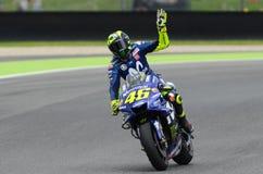 MUGELLO - ITALIË, JUNI: Italiaanse het Teamruiter Valentino Rossi van Yamaha Movistar bij 2018 GP van Italië van MotoGP op Juni,  Stock Foto