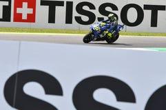 MUGELLO - ITALIË, JUNI: Italiaanse het Teamruiter Valentino Rossi van Yamaha Movistar bij 2018 GP van Italië van MotoGP op Juni,  Stock Afbeelding