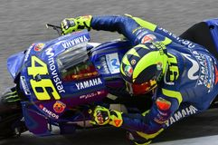 MUGELLO - ITALIË, JUNI: Italiaanse het Teamruiter Valentino Rossi van Yamaha Movistar bij 2018 GP van Italië van MotoGP op Juni,  Stock Afbeeldingen