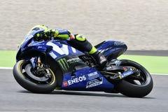MUGELLO - ITALIË, JUNI: Italiaanse het Teamruiter Valentino Rossi van Yamaha Movistar bij 2018 GP van Italië van MotoGP op Juni,  Royalty-vrije Stock Foto's