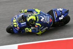 MUGELLO - ITALIË, JUNI: Italiaanse het Teamruiter Valentino Rossi van Yamaha Movistar bij 2018 GP van Italië van MotoGP op Juni,  Stock Foto's
