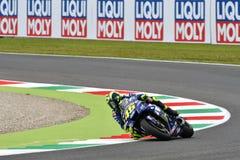 MUGELLO - ITALIË, JUNI: Italiaanse het Teamruiter Valentino Rossi van Yamaha Movistar bij 2018 GP van Italië van MotoGP op Juni,  Royalty-vrije Stock Afbeelding