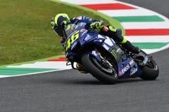 MUGELLO - ITALIË, JUNI: Italiaanse het Teamruiter Valentino Rossi van Yamaha Movistar bij 2018 GP van Italië van MotoGP op Juni,  Royalty-vrije Stock Fotografie