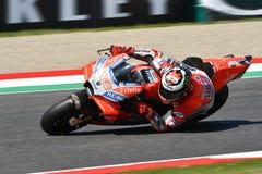 MUGELLO - ITALIË, 1 JUNI 2018: Spaanse Ducati-Teamruiter Jorge Lorenzo tijdens Kwalificerende zitting bij 2018 GP van Italië van  Royalty-vrije Stock Foto's