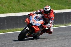 MUGELLO - ITALIË, 1 JUNI 2018: Spaanse Ducati-Teamruiter Jorge Lorenzo tijdens Kwalificerende zitting bij 2018 GP van Italië van  Stock Afbeeldingen