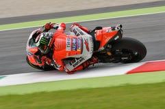 MUGELLO - ITALIË, 1 JUNI 2018: Spaanse Ducati-Teamruiter Jorge Lorenzo tijdens Praktijk bij 2018 GP van Italië van MotoGP op Juni Royalty-vrije Stock Afbeelding