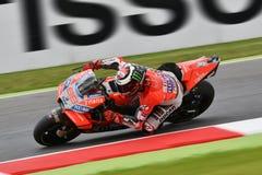 MUGELLO - ITALIË, 1 JUNI 2018: Spaanse Ducati-Teamruiter Jorge Lorenzo tijdens Praktijk bij 2018 GP van Italië van MotoGP op Juni Royalty-vrije Stock Fotografie