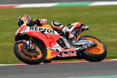 MUGELLO - ITALIË, 2 JUNI: Spaanse het Teamruiter Daniel Pedrosa van Honda Repsol bij 2018 GP van Italië van MotoGP op Juni, 2018 Stock Afbeeldingen