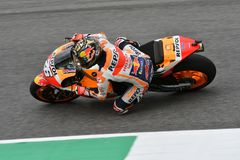 MUGELLO - ITALIË, 2 JUNI: Spaanse het Teamruiter Daniel Pedrosa van Honda Repsol bij 2018 GP van Italië van MotoGP op Juni, 2018 Stock Afbeelding