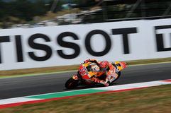Mugello - ITALIË, 2 Juni: Spaanse Honda-ruiter Marc Marquez bij 2017 Oakley GP van Italië MotoGP bij Mugello-Kring op 2 JUNI, 201 Royalty-vrije Stock Afbeelding