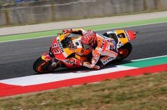 Mugello - ITALIË, 2 Juni: Spaanse Honda-ruiter Marc Marquez bij 2017 Oakley GP van Italië MotoGP bij Mugello-Kring op 2 JUNI, 201 Stock Afbeeldingen
