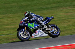 MUGELLO - ITALIË, 21 MEI: De Spaanse Yamaha-ruiter Jorge Lorenzo wint 2016 TIM MotoGP van Italië bij Mugello-kring Royalty-vrije Stock Foto's