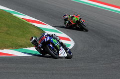 MUGELLO - ITALIË, 21 MEI: De Spaanse Yamaha-ruiter Jorge Lorenzo wint 2016 TIM MotoGP van Italië bij Mugello-kring Stock Foto's