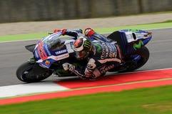 MUGELLO - ITALIË, 21 MEI: De Spaanse Yamaha-ruiter Jorge Lorenzo wint 2016 TIM MotoGP van Italië bij Mugello-kring Stock Afbeelding