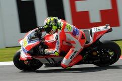MUGELLO - ITALIË, 21 MEI: Italiaanse Ducati-ruiter Andrea Iannone bij 2016 TIM MotoGP van Italië bij Mugello-kring Stock Afbeelding