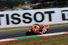 Mugello - ITALIA, el 2 de junio: El jinete Marc Marquez de Honda del español en GP 2017 de Oakley de Italia MotoGP en Mugello cir Imagen de archivo libre de regalías