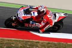 MUGELLO - ITALIA, EL 3 DE JUNIO: Jinete Andrea Dovizioso Win de Ducati del italiano el GP 2017 de OAKLEY MotoGP de Italia el 3 de Fotos de archivo libres de regalías