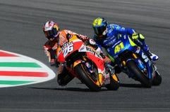 MUGELLO - ITALIA, EL 29 DE MAYO: Jinete Dani Pedrosa de Honda del español en TIM 2015 MotoGP de Italia en el circuito de Mugello Fotos de archivo
