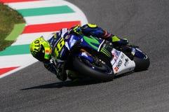 MUGELLO - ITALIA, EL 21 DE MAYO: Jinete Valentino Rossi de Yamaha del italiano en TIM 2016 MotoGP de Italia Imagen de archivo libre de regalías