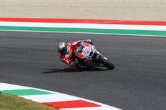 MUGELLO - ITALIA, IL 3 GIUGNO: Cavaliere Andrea Dovizioso Win di Ducati dell'italiano il GP di 2017 OAKLEY MotoGP dell'Italia il  Fotografie Stock