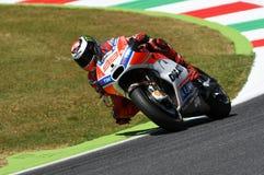 MUGELLO - ITALIA, IL 3 GIUGNO: Cavaliere Jorge Lorenzo di Ducati dello Spagnolo ad un GP di 2017 OAKLEY MotoGP dell'Italia Fotografia Stock
