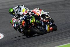 MUGELLO - ITALIA, IL 29 MAGGIO: Cavaliere Bradley Smith di Britannici Yamaha a TIM 2015 MotoGP dell'ITALIA al circuito di Mugello fotografie stock