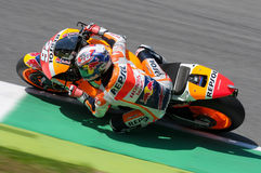 MUGELLO - ITALIA, IL 29 MAGGIO: Cavaliere Dani Pedrosa di Honda dello Spagnolo a TIM 2015 MotoGP dell'Italia al circuito di Mugel Fotografie Stock