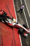 MUGELLO, ITALIA - MAGGIO 2012: Oliver Turvey del gruppo di McLaren F1 corre durante i giorni della prova dei gruppi di Formula 1  fotografia stock libera da diritti