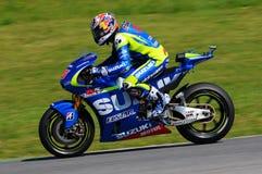 MUGELLO - ITALIA, MAJ 29: Hiszpańszczyzny Suzuki jeźdza indywidualista Vinales przy 2015 TIM MotoGP Włochy przy Mugello Obrazy Royalty Free