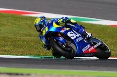 MUGELLO - ITALIA, MAY 29: Spanish Suzuki rider Aleix Espargaro at 2015 TIM MotoGP of Italy at Mugello. Stock Photo