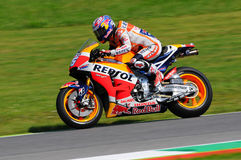 MUGELLO - ITALIE, LE 29 MAI : Cavalier Dani Pedrosa de Honda d'Espagnol chez TIM 2015 MotoGP de l'Italie au circuit de Mugello Photo stock