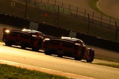 MUGELLO, ITALIE - NOVEMBRE 2013 : L'inconnu conduit Ferrari 599XX pendant XX les programmes de Finali Mondiali Ferrari - jour de  Images stock